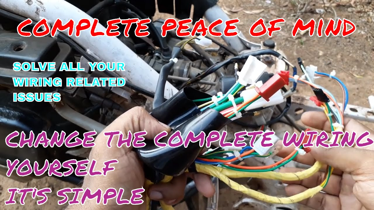 hight resolution of diy replacing complete wiring harness of honda activa