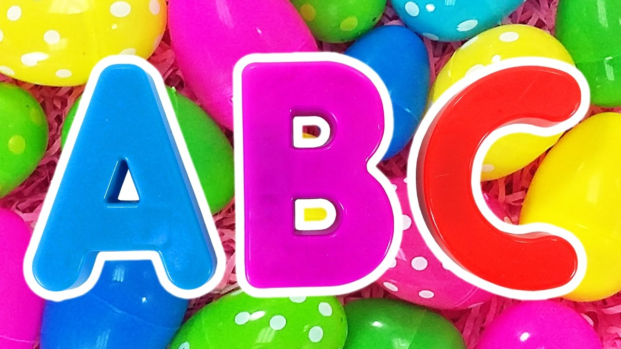 ABC Surprise Eggs #2 | Learn Colors for Children, Teach Preschool ...