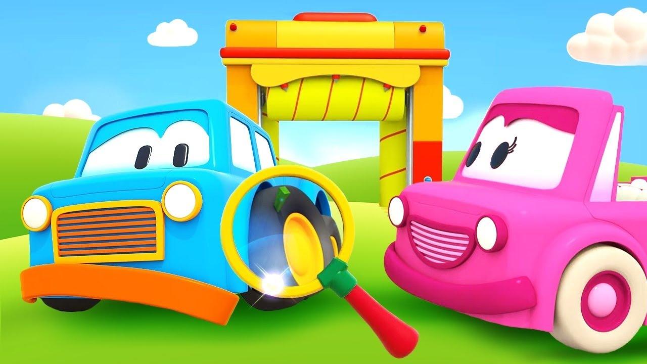 Dessin animé en français pour enfants. Les voitures futées : une écharde dans la roue