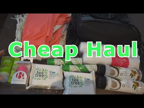 Super cheap cosmetic and clothes haul || Superdrug & Tesco