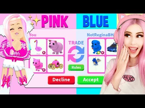 I Tried The ONE COLOR TRADE CHALLENGE In Adopt Me... Roblox Adopt Me Trading