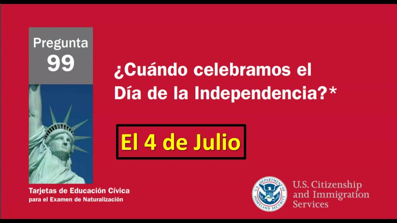 EXAMEN DE CIUDADANIA AMERICANA 100 PREGUNTAS CIVICAS EN ORDEN ALEATORIO (10 en 10) - REPASO #2