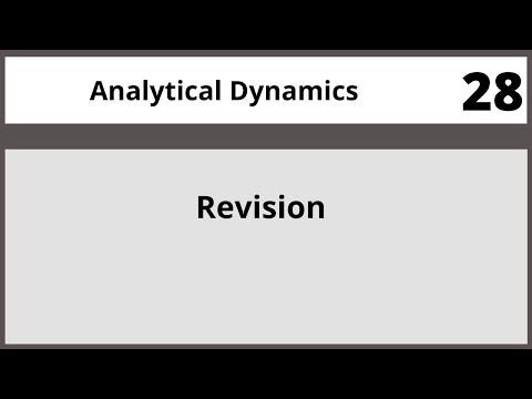 Analytical Dynamics in Hindi Urdu MTH382 LECTURE 28