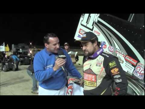 World of Outlaws STP Sprint Car Series Victory Lane at Clay County Fair Speedway