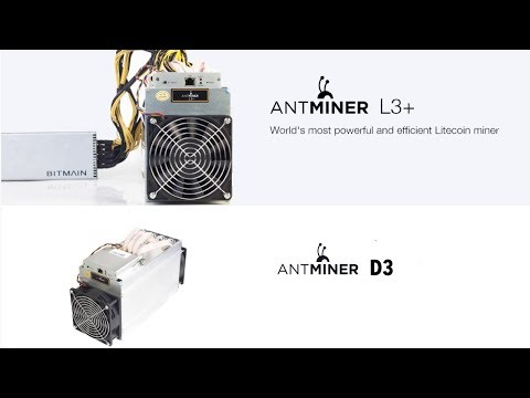 BITMAIN | Antminer D3 15GH/s DASH X11 & Antminer L3+, 504MH/s Litecoin | DELIVERY AUGUST 2017
