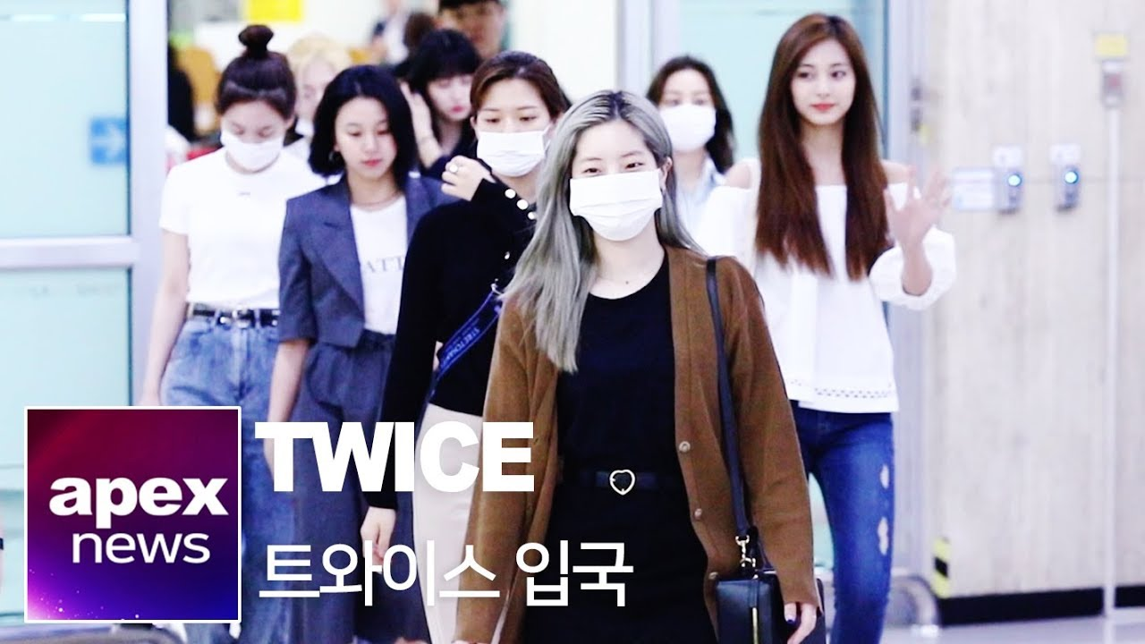 트와이스 입국 | TWICE トゥワイス arrived in Korea 190520