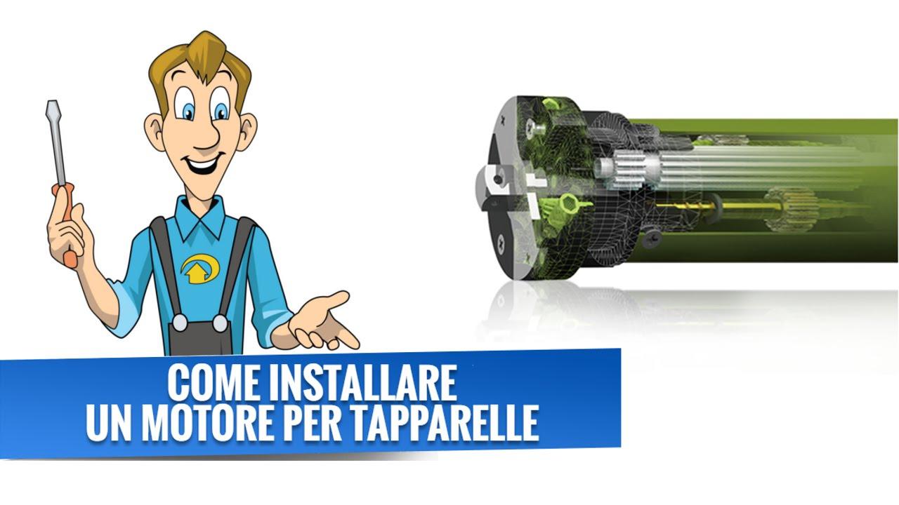 Schema Elettrico Per Motore Tapparelle : Come installare un motore per tapparelle youtube