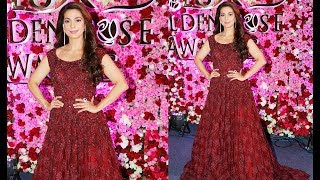 Juhi Chawla At The Red Carpet Of Lux Golden Rose Awards 2017