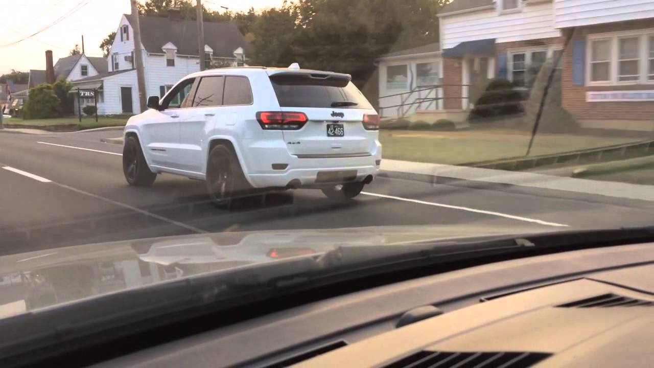 2015 jeep grand cherokee wk2 altitude on 22 s brembos lowered with led headlights [ 1280 x 720 Pixel ]