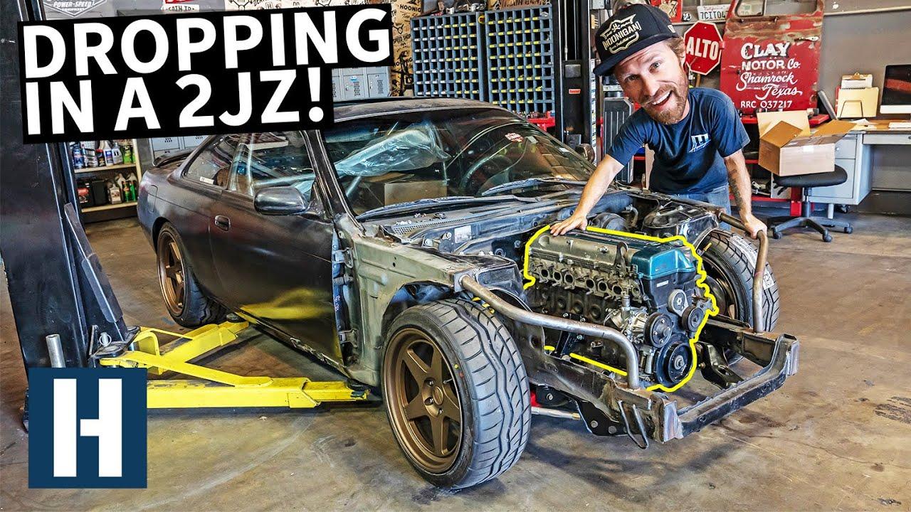 2JZ Install on Danger Dan's $500 Nissan 240SX! - Hoonigan