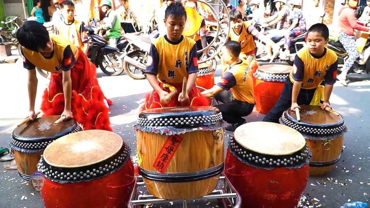 Đánh Trống Múa Lân Nhí 2019 đoàn LSR Tân Liên Thắng / Lion Dance Drumming Vietnam