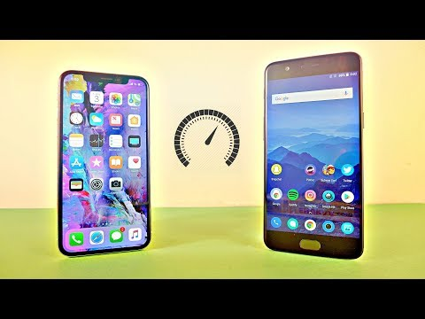 iPhone X vs OnePlus 5 - Speed Test! (4K)