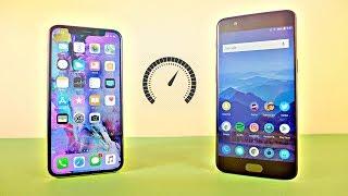 iPhone X vs OnePlus 5 - Speed Test! (4K)