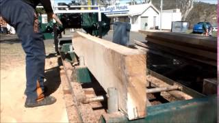 Cutting Dimensional Timber With The Gt26 Sawmill Band Saw