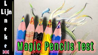 Koh-I-Noor Magic FX Pencils REVIEW ! drawing the bird of paradise flower