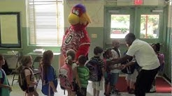 Jacksonville Sharks - Chum and Micheaux Robinson Visit Lake Lucina Elementary