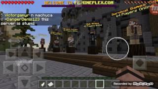 Minecraft pe| mine plex nece girilir
