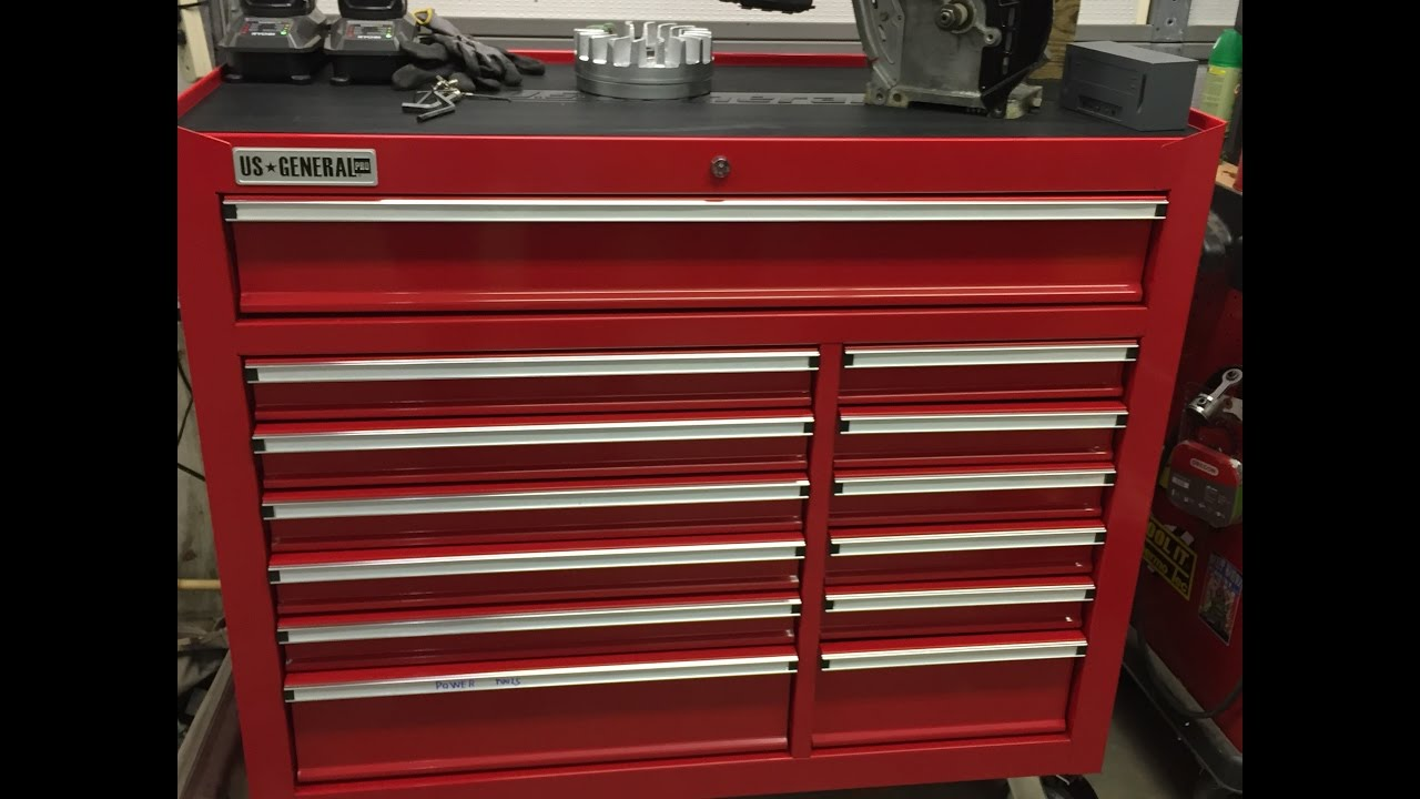 harbor freight 44' tool chest review - youtube