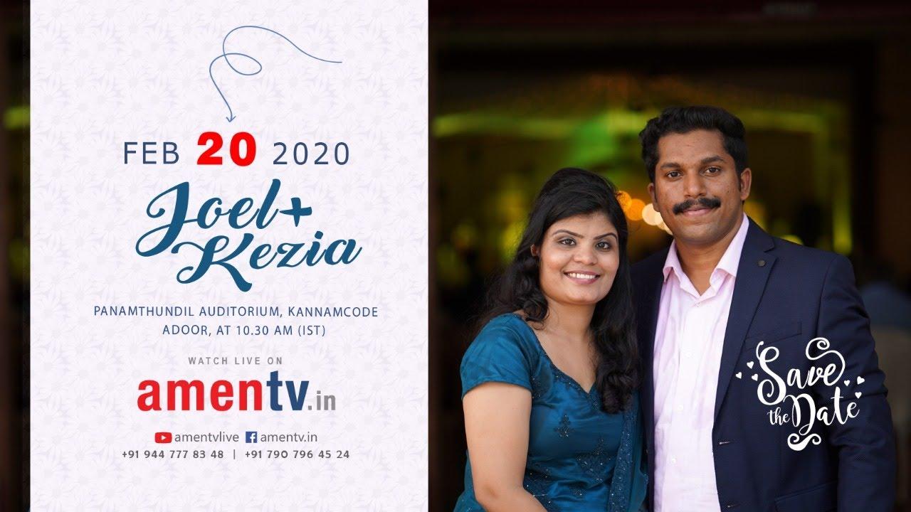 JOEL + KEZIA | WEDDING LIVE WEBCAST | 20.02.2020 www.amentv.in #amentv