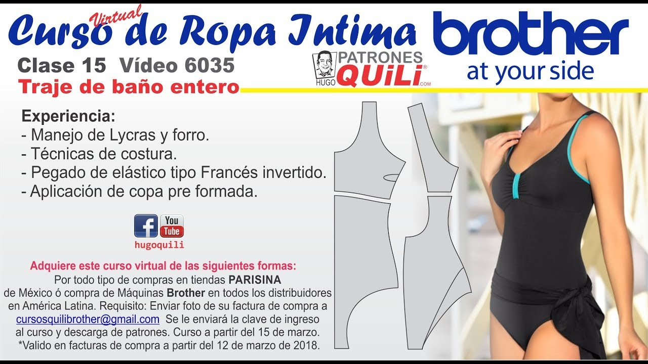 CLASE 15 Diseño 6035 TRAJE DE BAÑO - YouTube