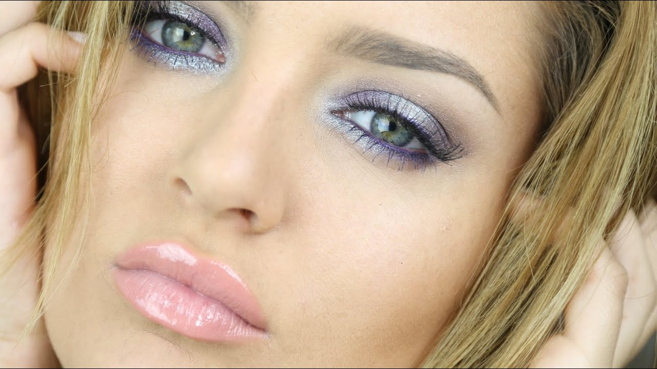 Frosty Pastel New Years Eve Makeup Tutorial Purple