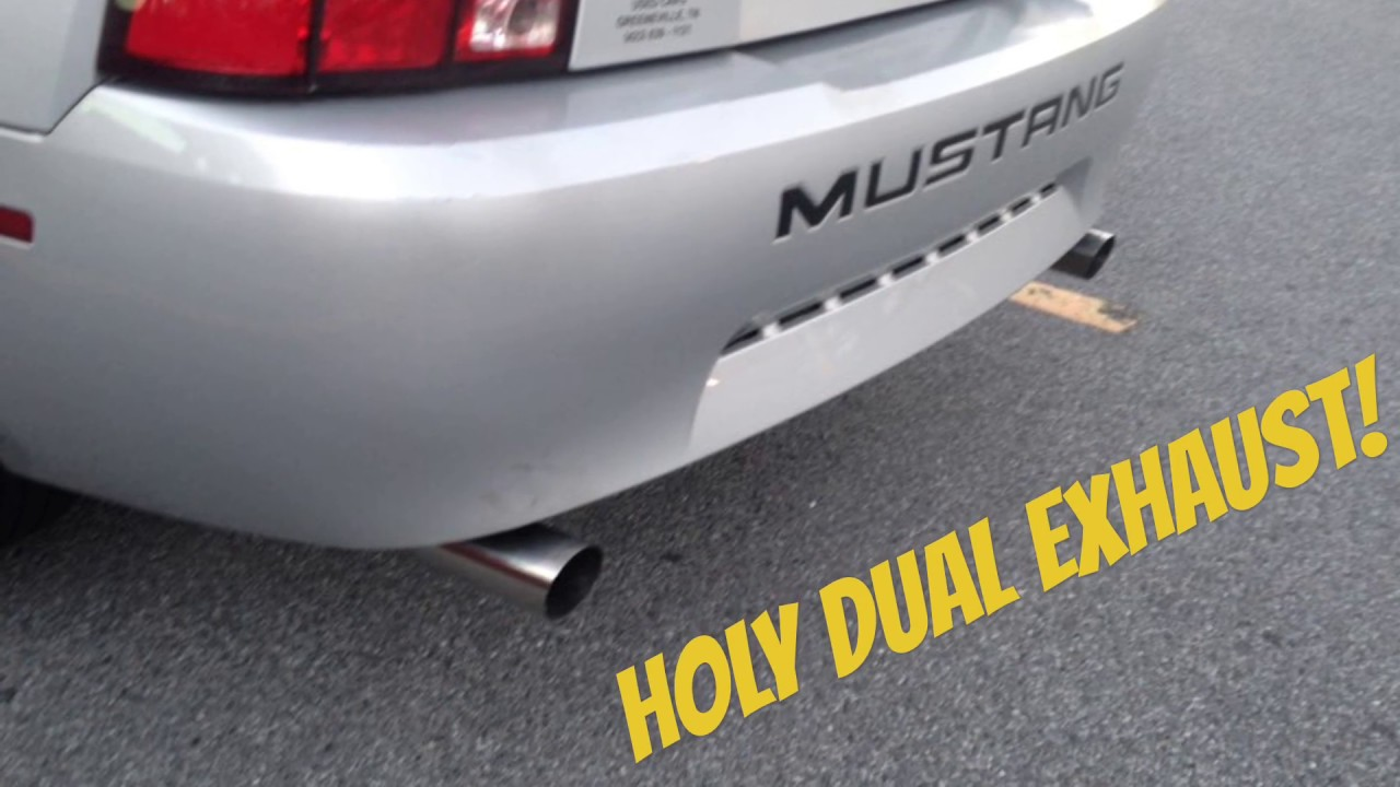 2002 v6 mustang exhaust system