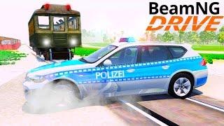 Поезд Метро Аварии (Железнодорожный Переезд) - BeamNG.drive