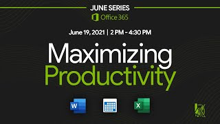 Maximizing Productivity: Microsoft Word, Microsoft Excel and Microsoft Outlook Calendar