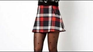 Мода и стиль.С чем носить юбку в клетку.