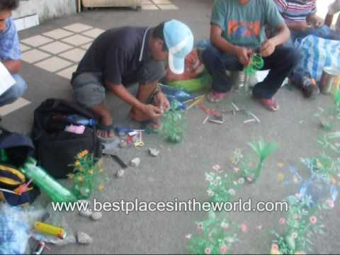 Filipino creativity artificial flower plants made of for Creativity with plastic bottles