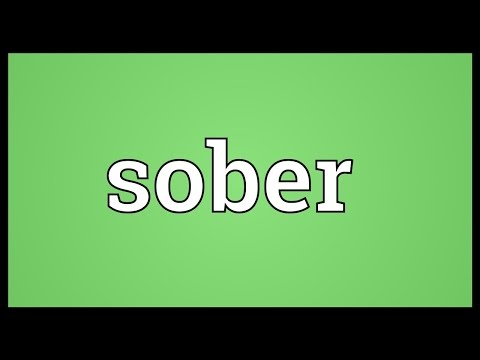 Sober Meaning