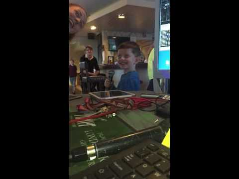 Bare necessities - Joshua Ryan first Karaoke song at The Winkle - 16/07/2016