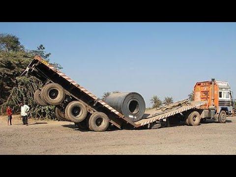 10 Extreme Dangerous Idiots Dump Truck Operator Skill - Fastest Deep River Crossing Truck Driving