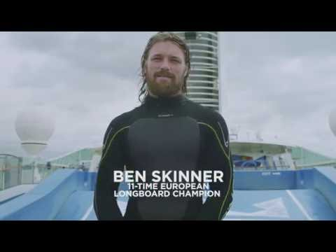 Royal Caribbean teamed up with Longboard Surfing Champion, Ben Skinner