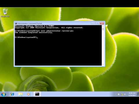 How To Enable Administrator Account On Windows 7 And Windows Vista.avi