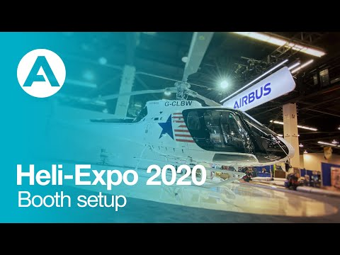 Heli-Expo 2020 - Airbus' booth takes shape