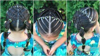 Peinado Para Ninas Con Ligas La Maya Y Trenzas Peinado Para Ninas