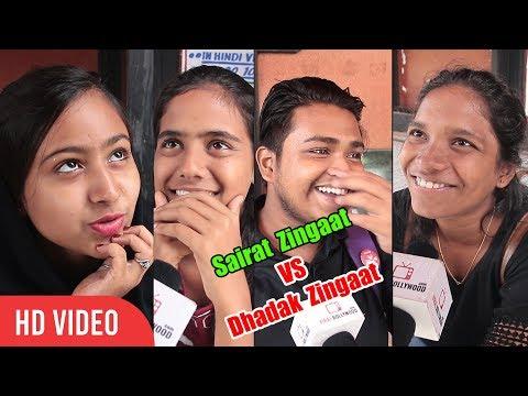 Public Reaction on Sairat vs Dhadak | Marathi Zingaat vs Hindi Zingaat