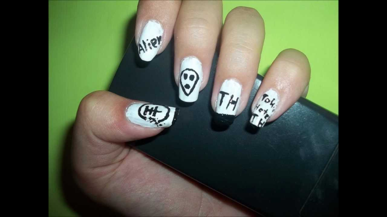 Tokio Hotel Nails2nd Day Of My Nail Art Challenge