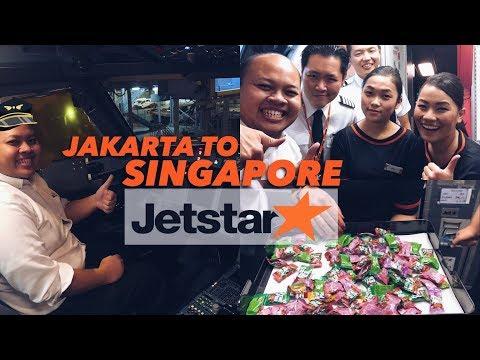 Jetstar Asia 3K206 Jakarta to Singapore Flight VLOG