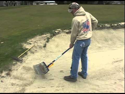 Bunker Rake Shake N Auto Sifts Golf Or Beach Sand