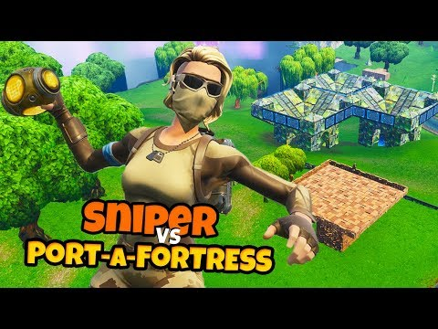 SNIPER VS PORT-A-FORTRESS - Fortnite Mini-Game met Don & Roedie