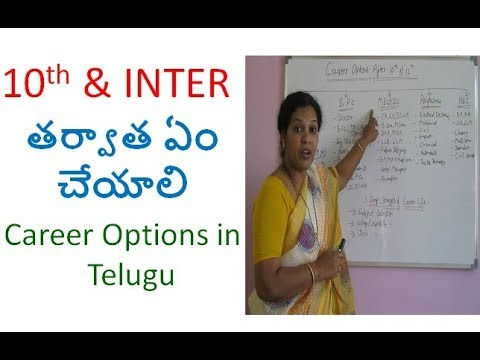 Career Options After 10th & 12th - In  Telugu