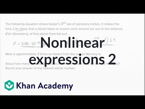 Interpreting Nonlinear Expressions — Harder Example | Math | New SAT | Khan Academy