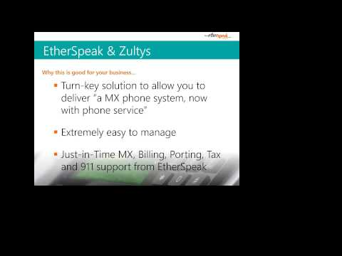 Smart Combo for Telecom Resellers - Zultys MXv & EtherSpeak Wholesale