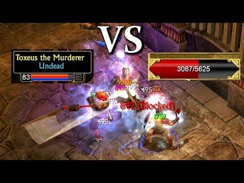 Titan Quest Atlantis  Jesus build VS Toxeus Legendary battle!  
