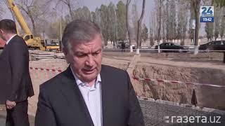 Шавкат Мирзиеёв ознакомился со строительством кольцевого метро
