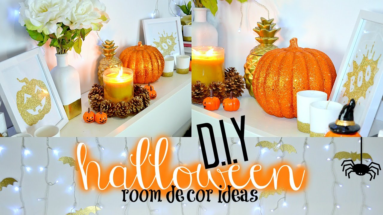Diy halloween room decor ideas tobie hickey youtube for Diy room decorations youtube