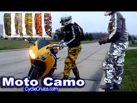 Motorcycle Camo Pants Review ~ AGVSport Willow Leather Pants