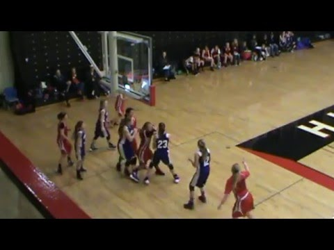 Monticello 7th Grade Girls Traveling Basketball vs Albany 1-10-16